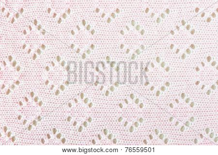 Pink Crochet Cloth Texture Background
