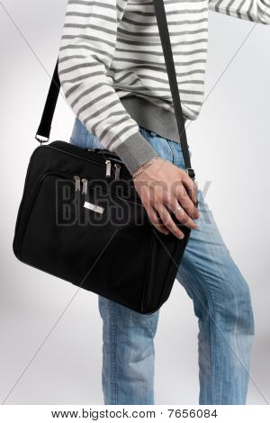 Man With A Computer Bag