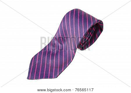 Blue And Pink Strips Business Neck Tie