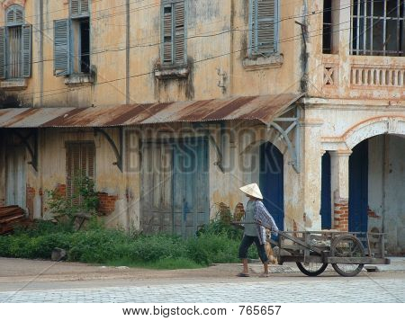 French Colonial Architecture in Rural Laos