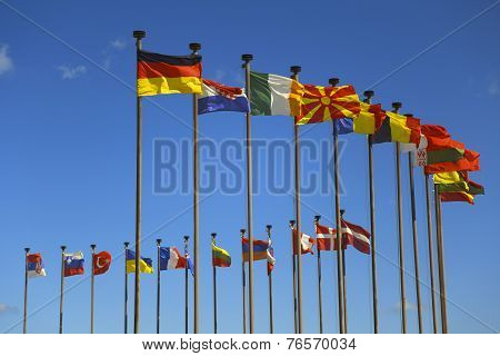 business background of international flags