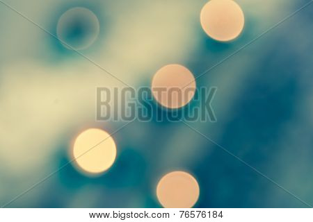 Abstract  Bokeh Of Light Split Tone