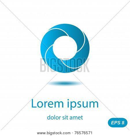 Segmented Circle Logo Concept