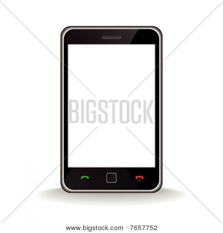 Telefone inteligente móvel moderno