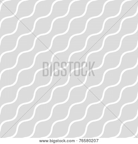 Wavy Gray Seamless Simple Background