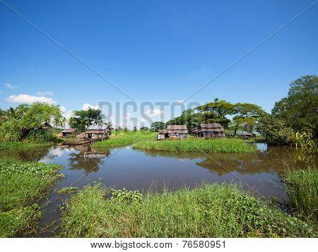Farmhouses In Myanmar