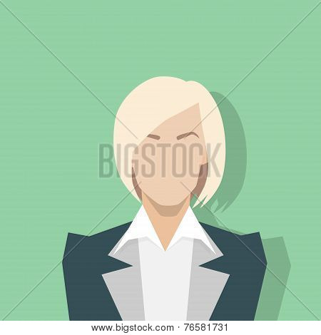 businesswoman profile icon female portrait flat
