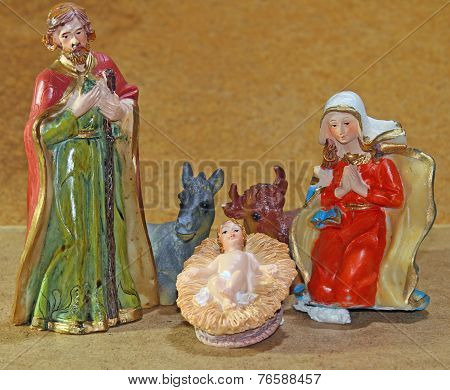 Nativity Scene With Baby Jesus