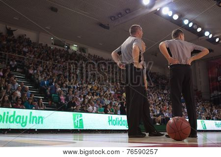 Referee During A Timeout.