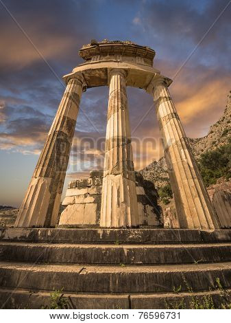 Tholos at Delphi, Greece