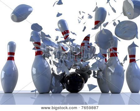 Bowling Pins Destroyed