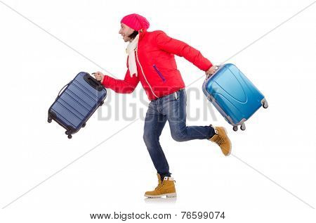 Man preparing for winter vacation