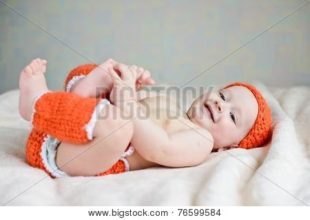 Baby  Catching Own Legs