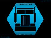 picture of freightliner  - Heavy truck silhouette front view - JPG