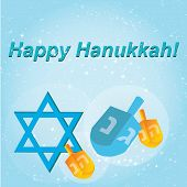 foto of hanukkah  - Happy Hanukkah greeting card design - JPG