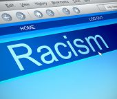 foto of racial discrimination  - Illustration depicting a computer screen capture with a racism concept - JPG