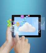 stock photo of touching  - touch screen  - JPG