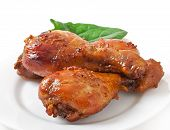 picture of marinade  - Baked chicken drumsticks in honey mustard marinade - JPG