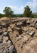 picture of biblical  - Ruines of houses in the biblical village Bethsaida which is located about 2 kilometers from the lake of Galilee - JPG