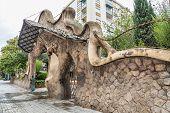 image of gaudi barcelona  - Miralles Gate  - JPG