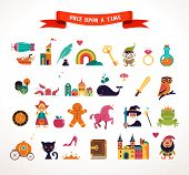 stock photo of fairy  - Collection of vector fairy tale elements - JPG