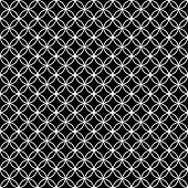 foto of interlocking  - Black and White Interlocking Circles Tiles Pattern Repeat Background that is seamless and repeats - JPG