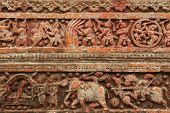 picture of radha  - Terracotta figures at Pancharatna Govinda Temple in Puthia - JPG