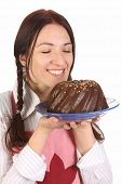 Housewife  With Bundt Cake