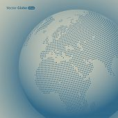 stock photo of mater  - Vector abstract dotted globe - JPG
