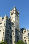 image of old post office  - Old Post office pavilion with bell tower in Washington DC - JPG