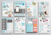 pic of web template  - Set of Flyer Design - JPG