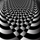 stock photo of spatial  - Abstract op art design - JPG