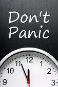 stock photo of panic  - The phrase Don - JPG