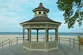 foto of gazebo  - Gazebo is about relaxing and enjoying the beauty of the sea - JPG