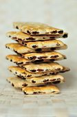 pic of hardtack  - a pile of the cookies with raisins