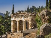image of treasury  - The reconstructed Treasury of Delphi - JPG