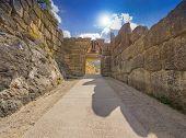 image of mountain lion  - Lion Gate at Mycenae - JPG