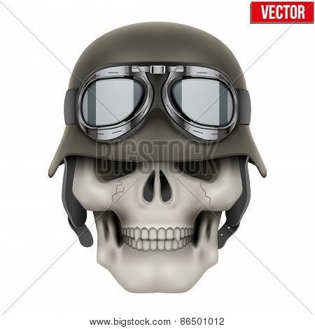 Human skulls with German Army