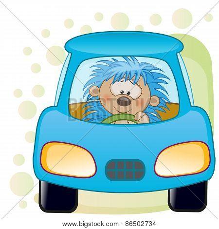 Hedgehog In A Car