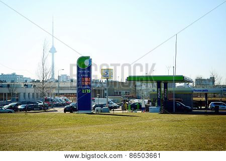 Petrol Distribution Company Neste Station In Vilnius City
