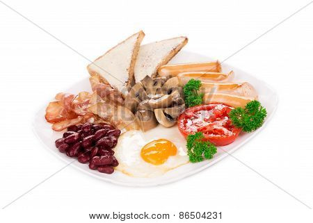 Traditional Full English Breakfast.