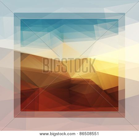 Blurry sunny scene with sunset blur sky, abstract vector background