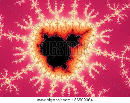 Decorative fractal Mandelbrot