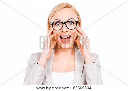 Surprised Businesswoman.
