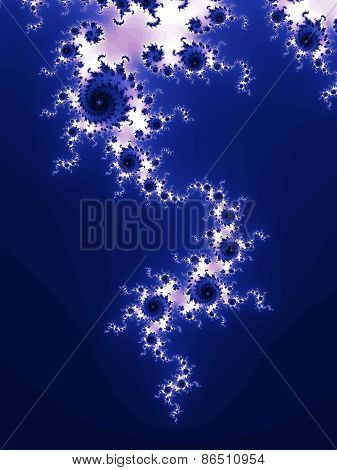 Blue fractal background