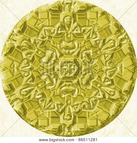 Gold (yellow) Jewelled (diamond) Circle