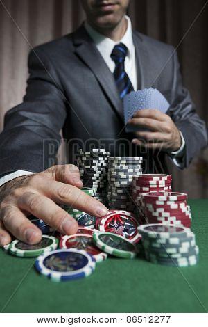 Blackjack Winner,businessman Won In Blackjack Game
