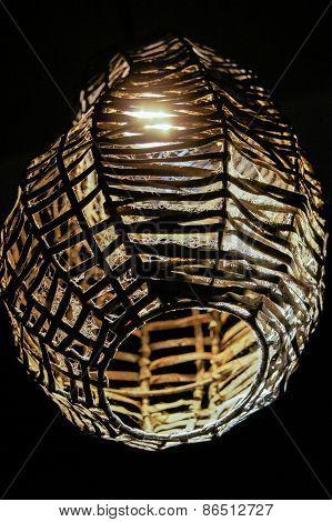 original wicker lampshade