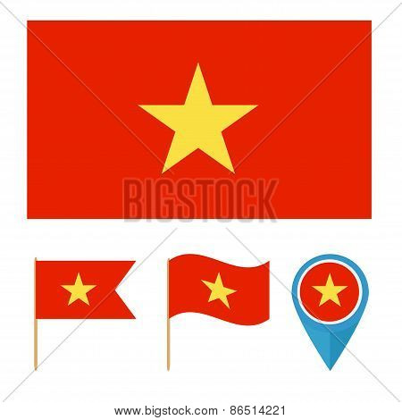 Vietnam, country flag