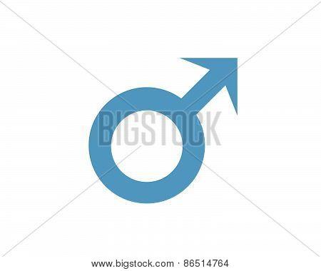 Male Symbol In Blue